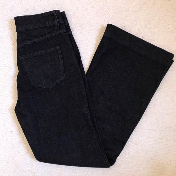 J CREW Wide-Leg Dark Wash Trouser Jeans 27 New
